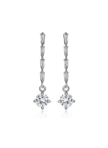 2,60 Ct Pırlanta Efekt Altın Eos Trapes Küpe-Tophills Diamond Co.